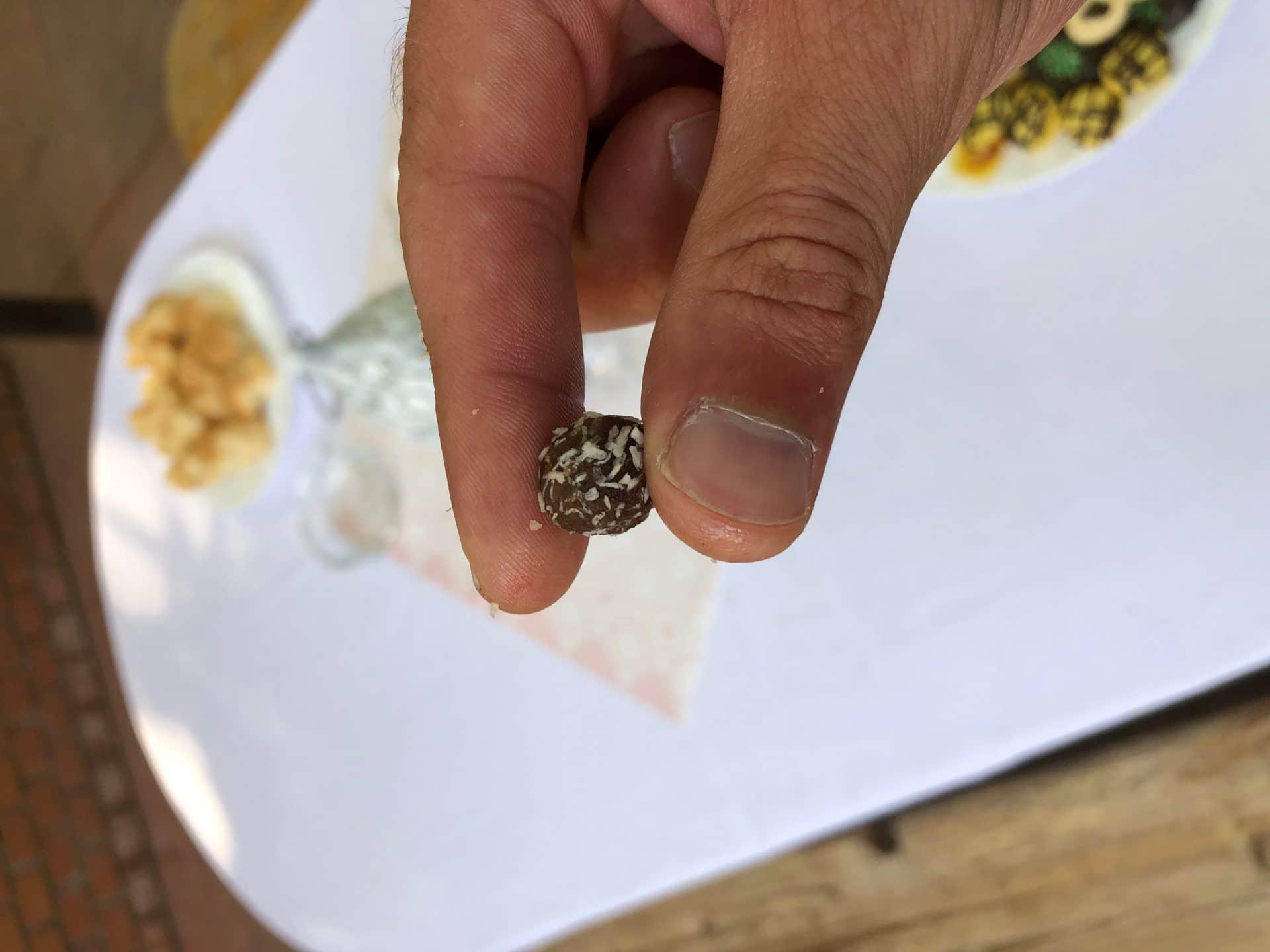 Mini kókuszgolyó a gyulai Park Hotelben