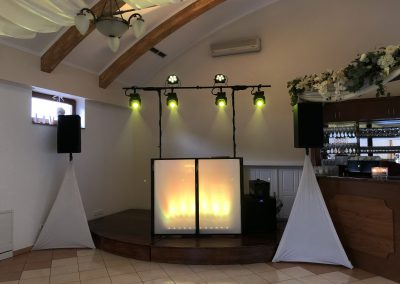 Esküvői DJ pult a Szepi Fogadóban